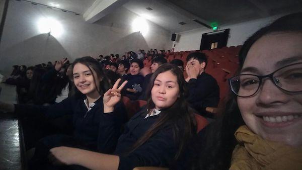 El 7° Básico visitó el teatro Nescafé de las artes